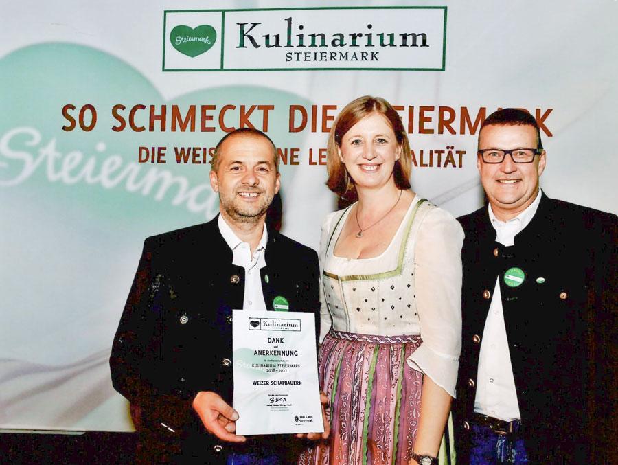 Weizer Schafbauern Urkunden ueberreichung